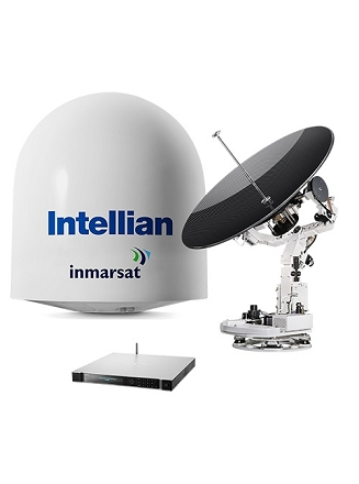 VSAT KA GLOBAL XPRESS 103CM/3 AXES/BUC 5W/X POL//LNB PLL/DOME 138CM